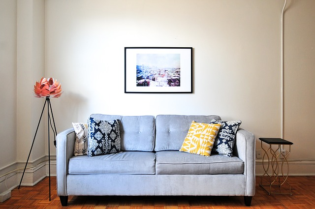 Sofa and painting